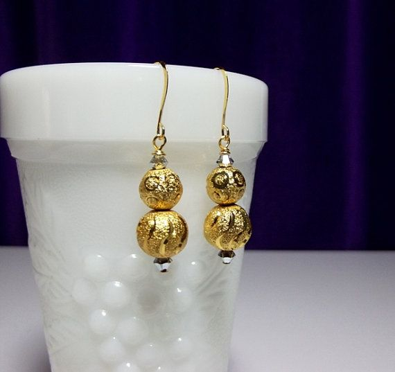 Gold Crystal Drop Earrings, Mothers Day Christmas Mom Sister Grandmother Bridesmaid Girlfriend Aunt Birthday Jewelry Gift, LIMITED