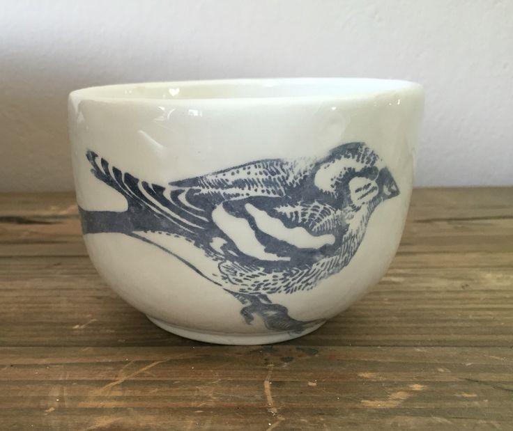 Cup bird ceramic