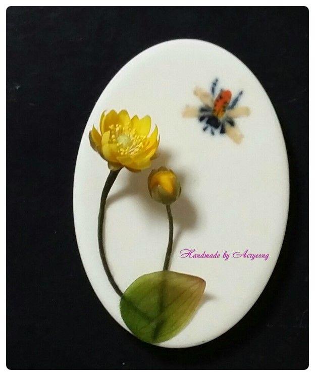조화공예 고급과정 복수초 석고 방향제 (아트플라워 한지꽃 종이꽃) : 네이버 블로그