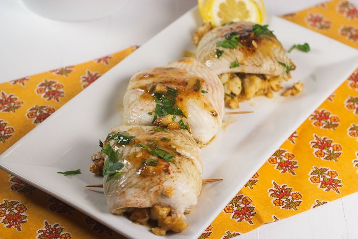 Crabmeat Stuffed Flounder Roulades