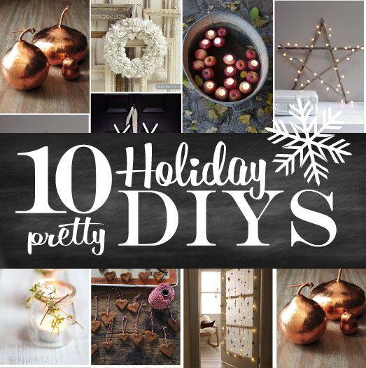 10 Pretty Holiday Decor DIYs