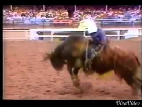 """""""The Last Ride"""" Garth Brooks tribute to Lane Frost who died July 30, 1989 at the Cheyenne Wyoming Rodeo while riding #PBR. SO TIP YOUR HAT TO THE COWBOY EVERY ONCE IN A WHILE AND TAKE TIME TO REMEMBER THAT COWBOYS SMILE. A little part of every heart of every rodeo fan, died right there in the rain and mud in July in Cheyenne. God Bless you Lane we will miss you always my friend"""