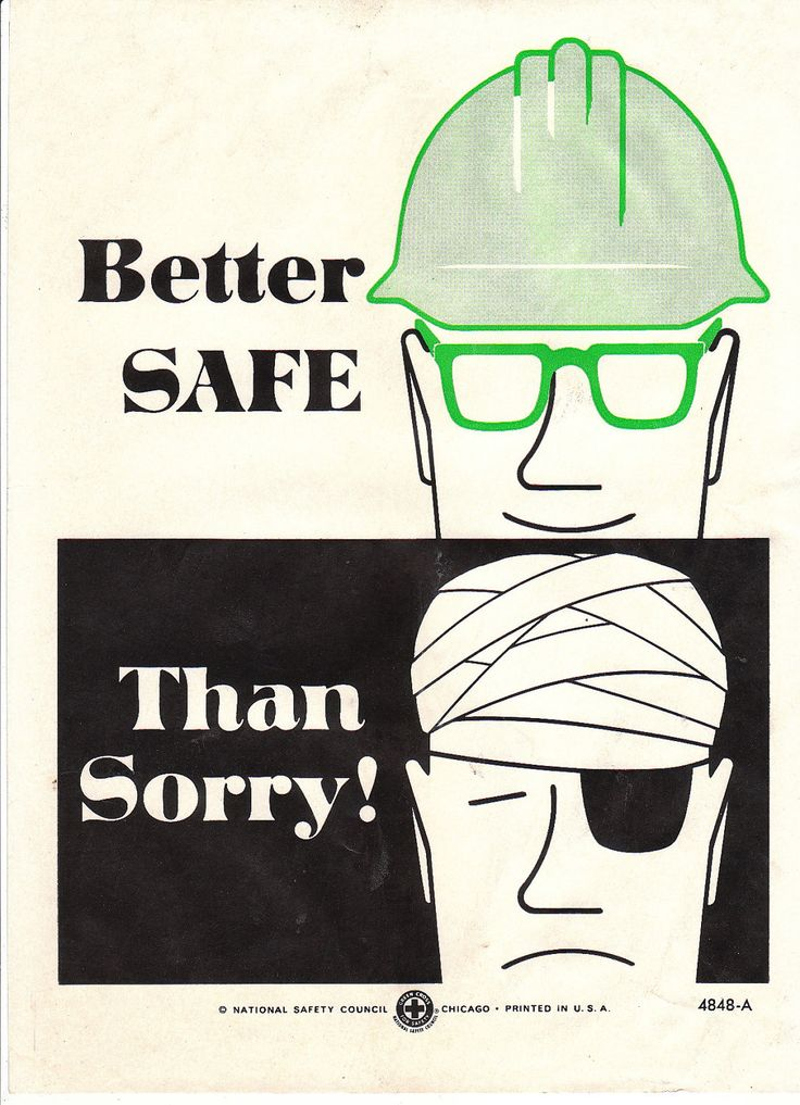 Collectable Vintage National Safety Poster - Better Safe Than Sorry. $10.95, via Etsy.