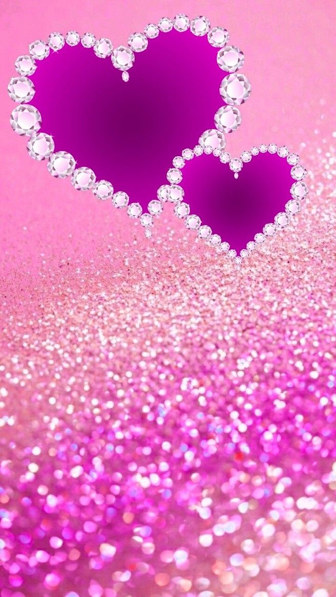 Pin By Anna Stevove On Tapety Heart Iphone Wallpaper Valentines Wallpaper Girly Phone Wallpapers Glitter pink love wallpaper