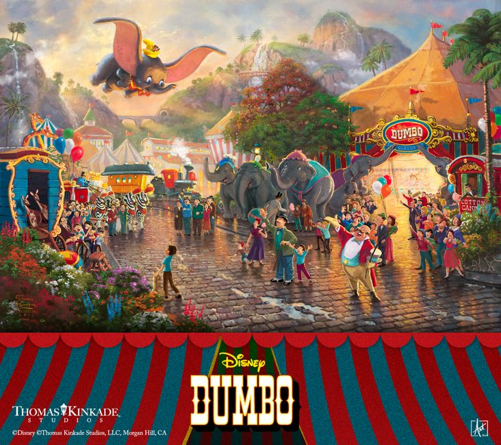 Join Thomas Kinkade Studios in celebrating the 75th Anniversary of Dumbo – the classic Disney film about overcoming obstacles! See our new Limited Edition Art Disney Dumbo at your local Thomas Kinkade Gallery, or online at www.thomaskinkade.com. #Disney #Dumbo #Thomas Kinkade #art https://thomaskinkade.com/art/disney-dumbo/