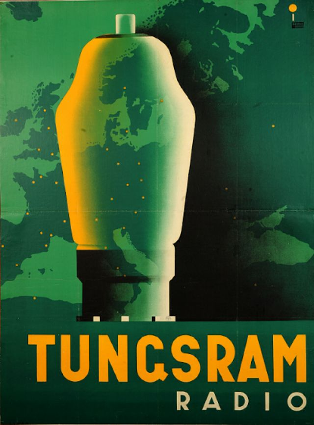 Tungsram poster from the 30s