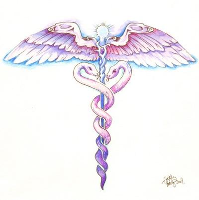 medical symbol tattoos   ... Full Summery Caduceus Superhit Tattoos Medical Symbols on Pinterest