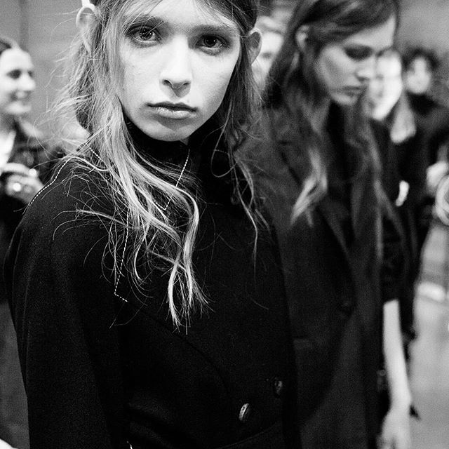Backstage at @doganorway at the very first @oslorunway with favorites Emma and Mathilde wearing AW15. #tb #oslorunway Photo @hindafahre #epiloguebyevaemanuelsen @epiloguebyevaemanuelse  Styling @paulineoslo