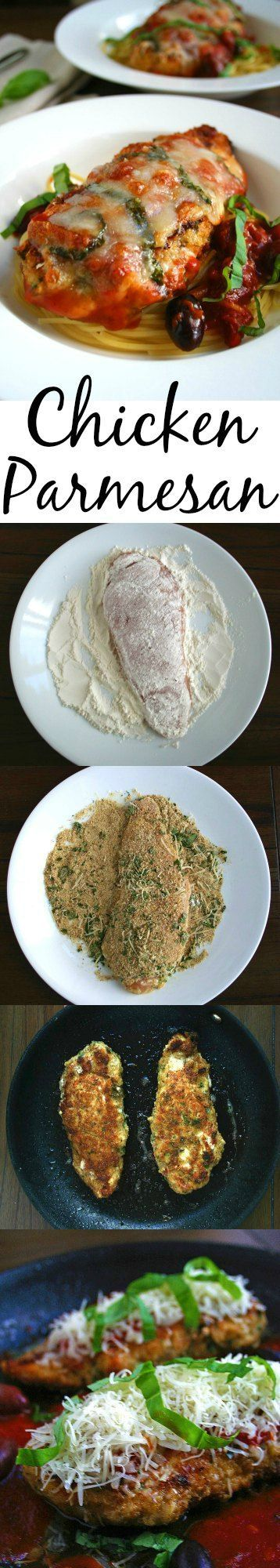 Chicken Parmesan for two, including a step-by-step recipe with pictures to show you exactly how to make this comforting & flavorful date night dish. | strawmarysmith.com