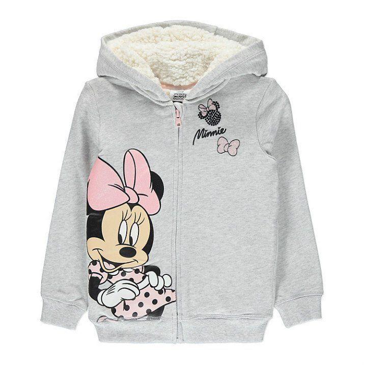Disney Sudadera con capucha y lazo de Minnie Mouse para ni/ñas