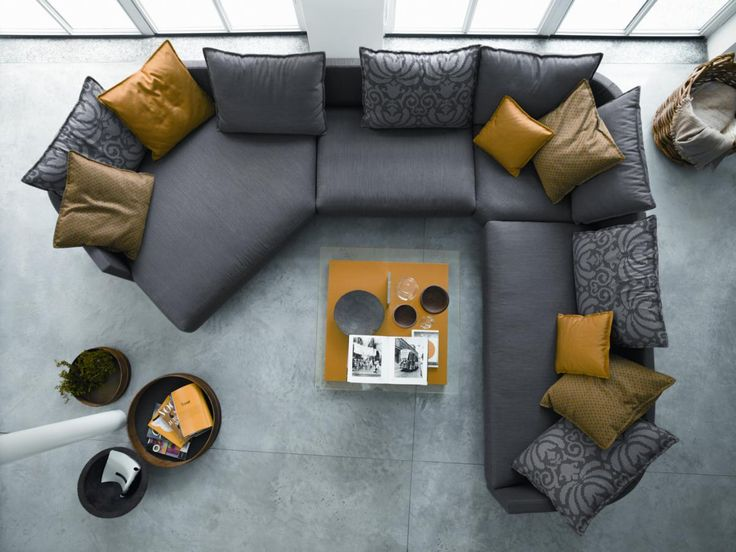 top view of a rolf benz onda sofa atelier plura sofa rolf benz