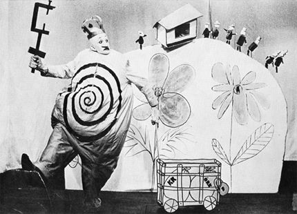 Alfred Jarry - The forerunner to Pickle Surprise by about 90 years (taken from a production of Ubu Roi)