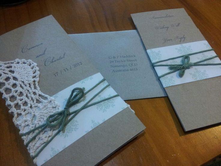 Vintage Lace Doillie invitation <3 By Mins Magical Moments  http://minsmagicalmoments.wordpress.com/