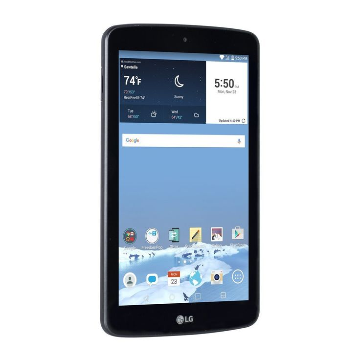 """Amazon.com: FreedomPop LG G Pad 7"""" 8GB Tablet (WiFi + LTE) - Black (Certified Refurbished): Cell Phones & Accessories"""