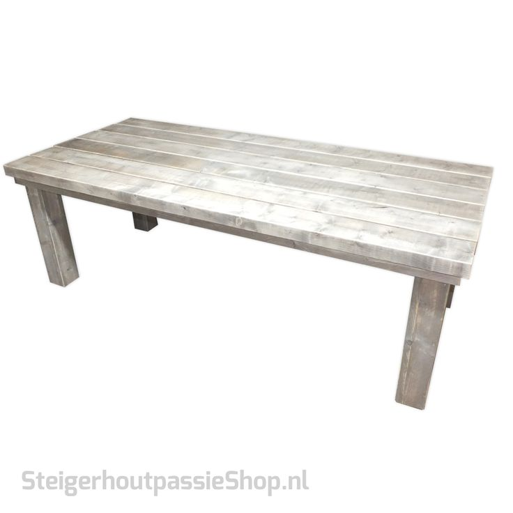 steigerhouten-boeren-tafel-Blok-poot