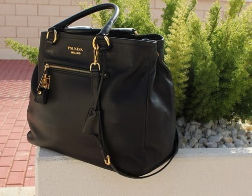 black Prada purse
