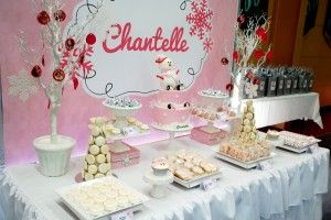 More of Chantelle's Winter ONEDerland Dessert Table