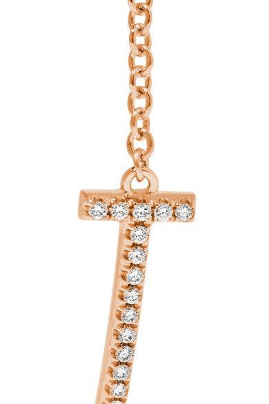Tiffany & Co. - T Smile 18-karat Rose Gold Diamond Bracelet -