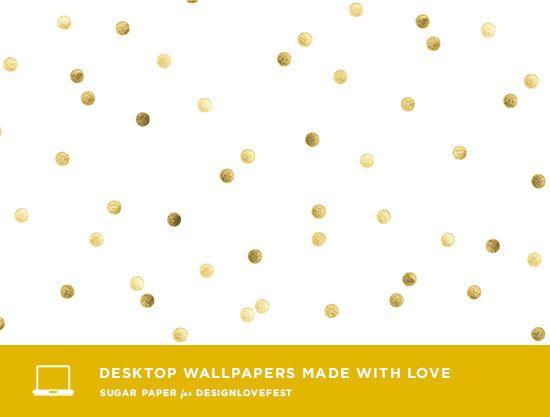 Gold Confetti Desktop
