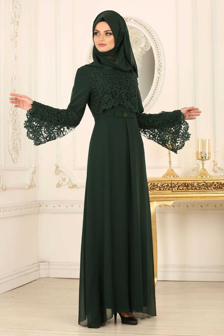 Evening Dress - Green Evening Dress 25670Y