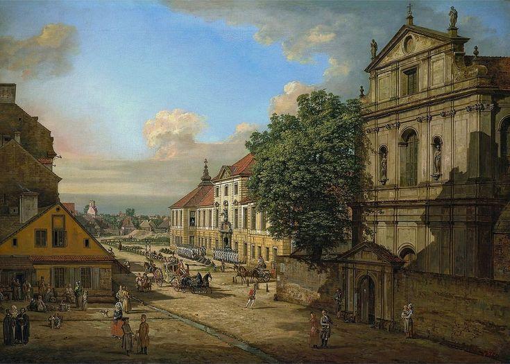 Kościół Brygidek na rogu ulicy Nalewki, Bellotto, 2 poł XVIII