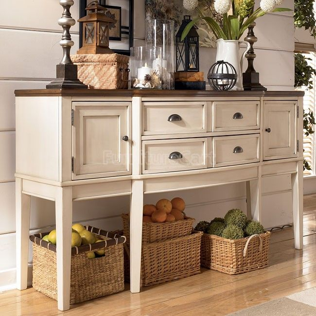 Signature Design By Ashley U0027Whitesburgu0027 Two Tone Dining Room Server    Overstock™ Shopping   Big Discounts On Signature Design By Ashley Buffets