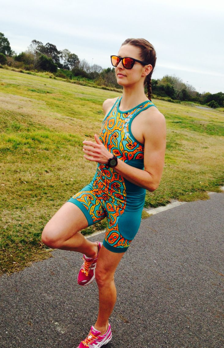 Amanda in the Wildher two piece tri suit.