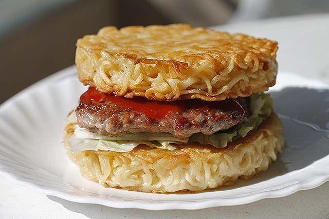 hamburguesa de ramen