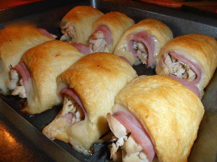 Chicken cordon blu crescent rolls.