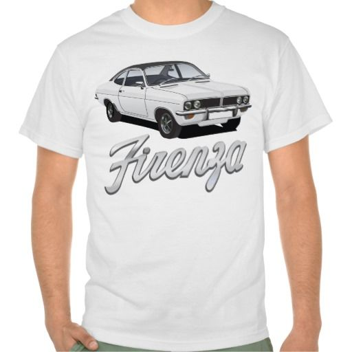 Vauxhall Firenza white, black roof with text  #vauxhall #firenza #vauxhallfirenza #automobile #tshirt #tshirts #70s #classic