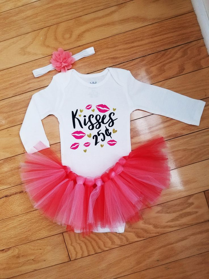Valentine's Day Outfit Baby Girl. 1st Valentine's Day Outfit, Baby Girl Valentine's Day, Newborn Valentine's Day Valentine's Day Outfit Tutu by TanyasCricutBoutique on Etsy
