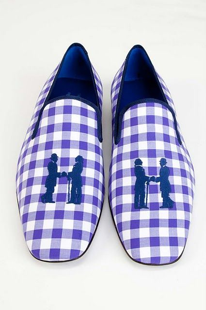 the amazing Hadleigh Gingham shoes! : Men S Fashion, Gingham Shoes, Men S Slippers, Things Gingham, Gingham Check, Men Shoes, Buffalo Checks, Gingham Style
