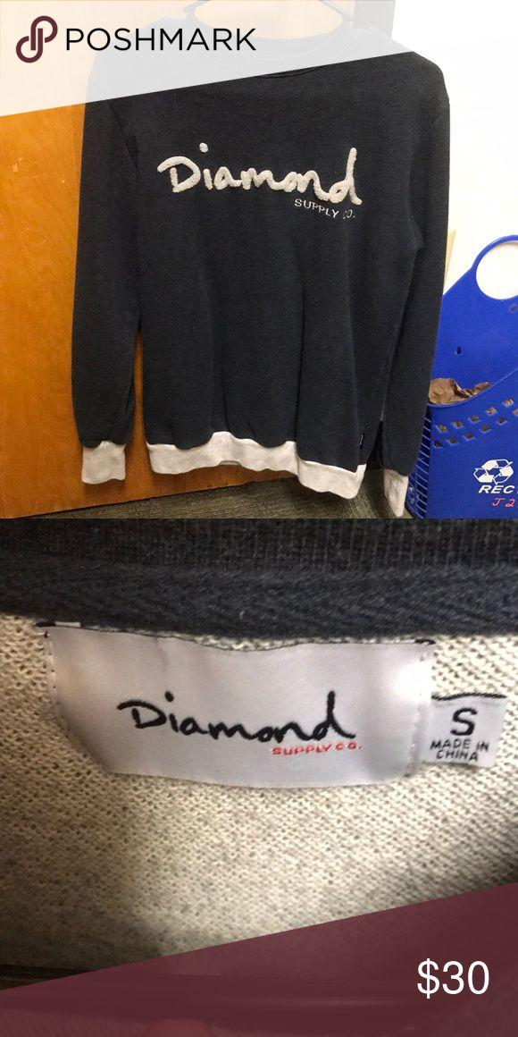 DIAMOND CREWNECK SWEATER Diamond supply company small crew neck sweater. Worn it twice. Fits like a medium Diamond Supply Co. Shirts Sweatshirts & Hoodies