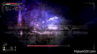 Em Salt and Sanctuary, Disemboweled Husk possui uma maquina bem simples, se o jogador estiver na frente dele a uma longa distancia ele atira,  se o jogador estiver na frente mas perto ele bate com a espada,  se o jogador estiver perto e atrás dele, ele atira pra cima. Quando o sangue dele diminui mais da metade, ele passa a atirar pra cima a qualquer momento e logo após o tiro, ele dá uma investida com sua espada na direção do jogador.