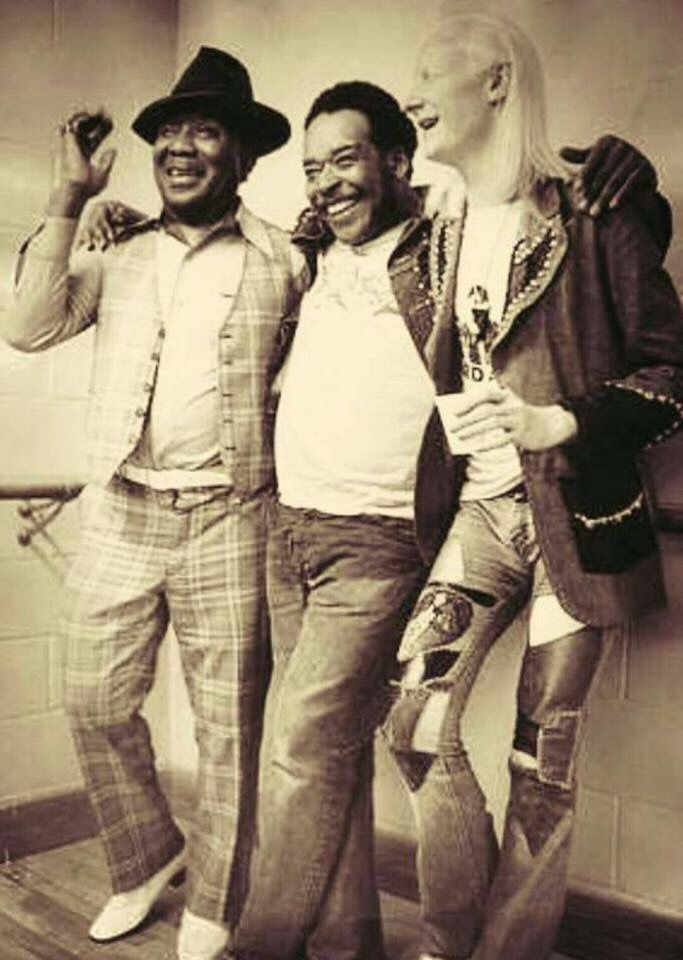 Muddy, James Cotton and Johnny Winter