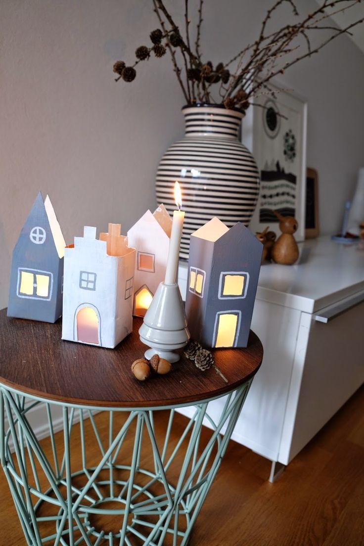 milch tten h user diy basteln mit kindern upcycling. Black Bedroom Furniture Sets. Home Design Ideas
