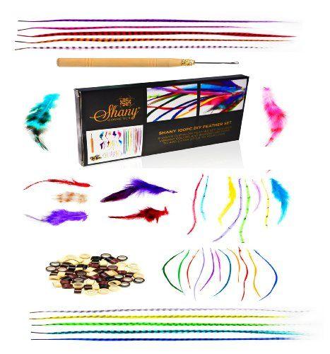 Shany Cosmetics Kit d'extensions en plumes pour cheveux: Lot de 100 plumes de grande qualité de la marque Shany, excellent kit pour les…