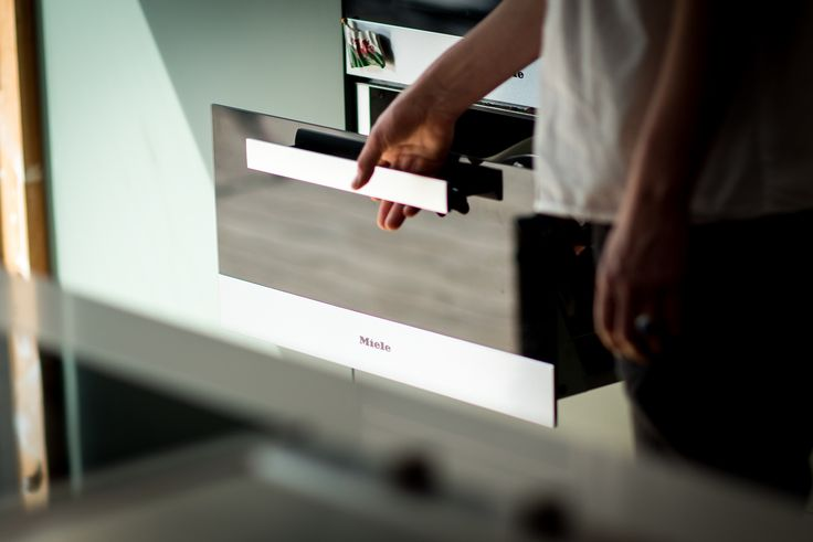The Miele Sous Chef Food Warming Drawer, as seen here in professional chef Anna Hansen, MBE's kitchen, is so much more than just a warming drawer - allowing for precision low temperature cooking