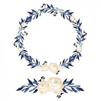 Diseño de corona y ornamento floral