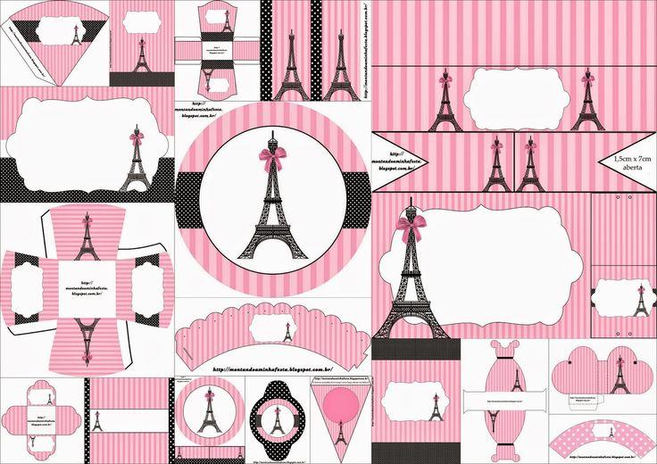 Soberbio Kit para Bodas con el Tema París para Imprimir Gratis.
