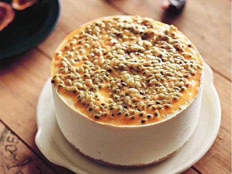 Fryst mangocheesecake med ricotta och passionsfrukt | Recept från Köket.se