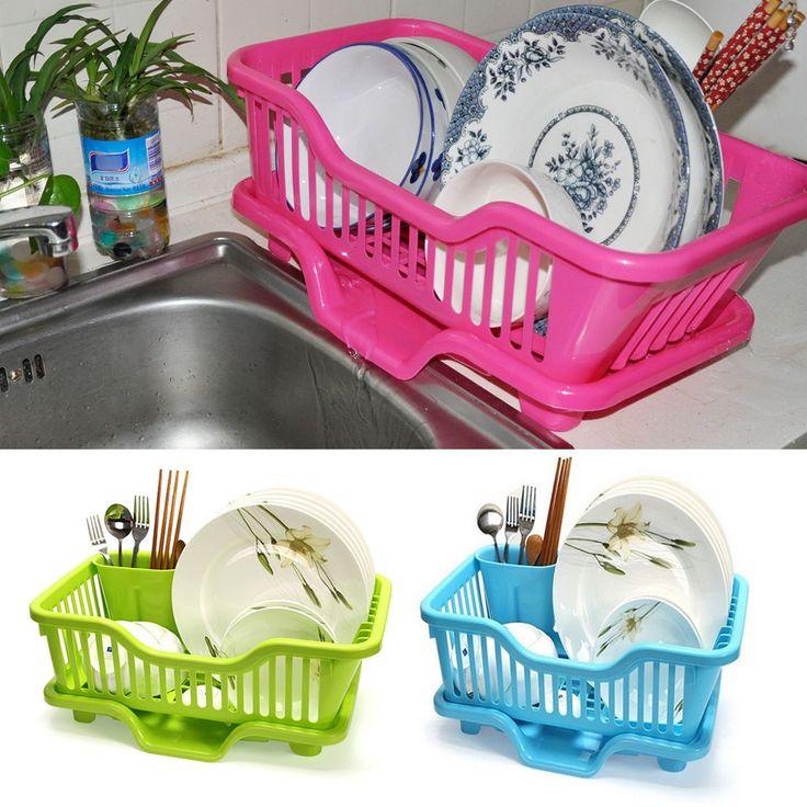 Hotsale Home Kitchen Dish Drainer Rack Drying Tray Sink Holder Basket Organizer