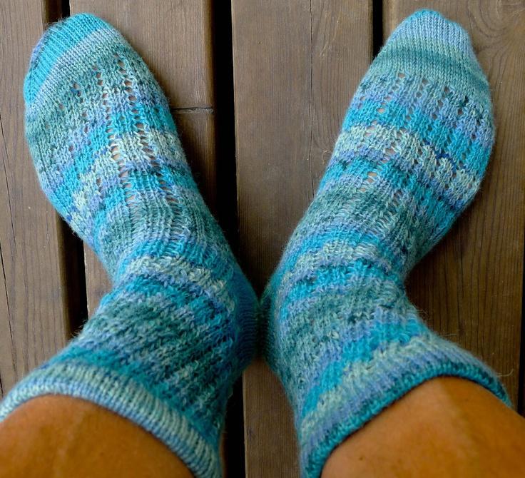 kråkspark: Nya sockor i turkos