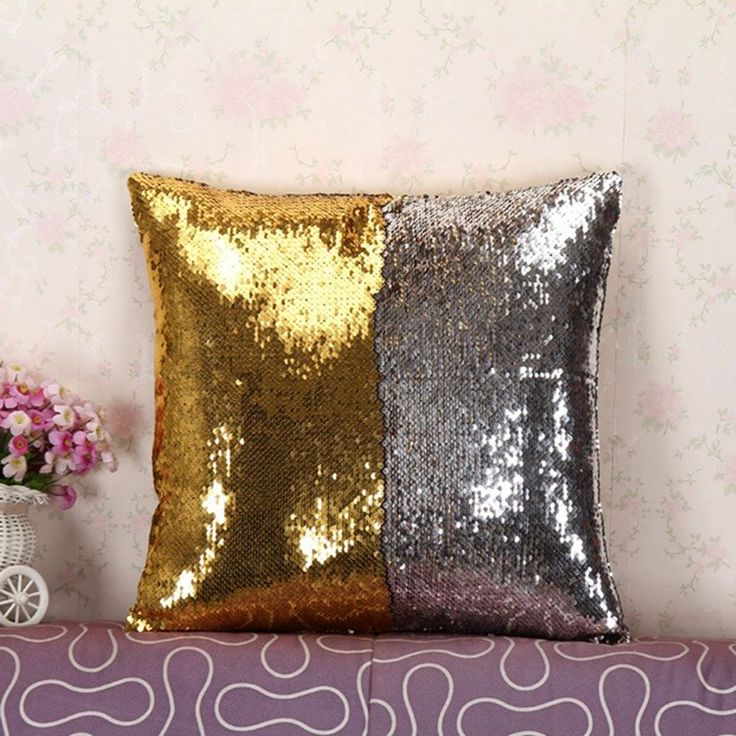 Mermaid Decorative Pillow Cover With Two Tone Sequins - Big Star Trading Store