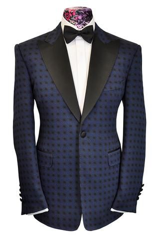 The Gibson Blue Over Black Geometric Pattern