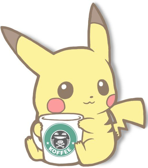 Not sure i would want that coffee tho pokemon - Kawaii pikachu ...