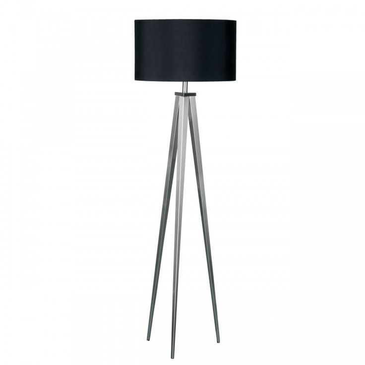 95 best lounge images on pinterest brass and settees simple premier housewares satin nickel tripod floor lamp with black tube shaped shades and chrome metal materials base also chrome floor lamp finish mozeypictures Choice Image