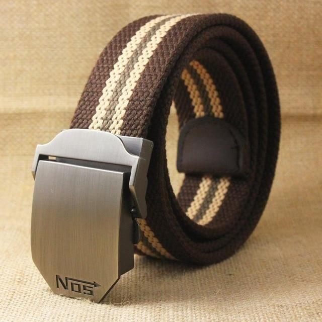 Hot Men Canvas Belt Equipment Strap Mens Belts Luxury for Men