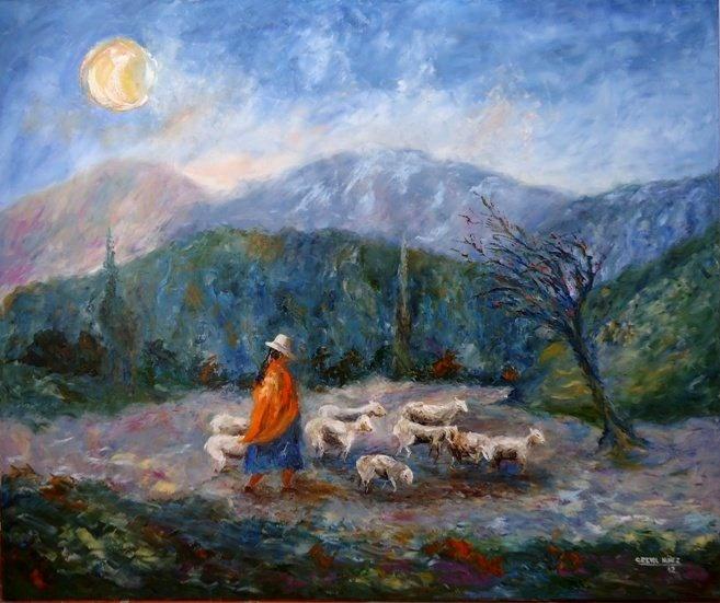 mujer con ovejasCecilia Revol Nunez