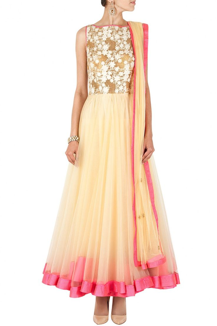 Ivory and pink bugle bead embroidered kurta set Website : http://www.bhartistailors.com/ Email : arvin@bhartistailors.com
